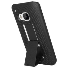 Load image into Gallery viewer, AMZER Snap On Case with Kickstand - Black for HTC One M9