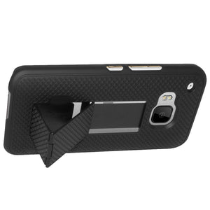 AMZER Snap On Case with Kickstand - Black for HTC One M9