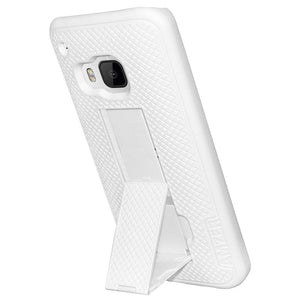 AMZER Snap On Case with Kickstand - White for HTC One M9