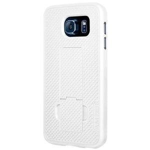 AMZER Shellster Hard Case Clip Holster for Samsung Galaxy S6 - Black/White