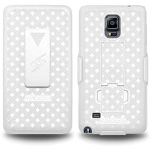 Load image into Gallery viewer, AMZER Shellster Hard Case  Belt Clip Holster for Samsung GALAXY Note 4 - White