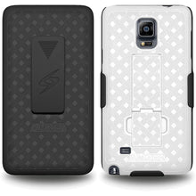 Load image into Gallery viewer, AMZER Shellster Hard Case Clip Holster for Samsung GALAXY Note 4 - Black/White