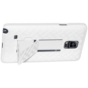 AMZER Shellster Hard Case Clip Holster for Samsung GALAXY Note 4 - Black/White