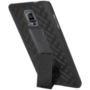 AMZER Snap On Case with Kickstand - Black for Samsung GALAXY Note 4 SM-N910