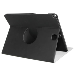 AMZER Shell Portfolio Case - Black Leather Texture for Samsung Galaxy Tab A 9.7