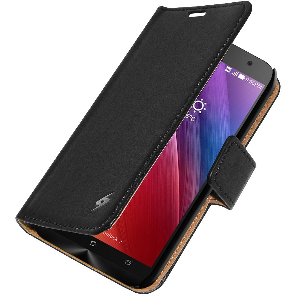 AMZER Flip Case - Black for Asus Zenfone 2 Deluxe ZE551ML