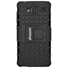 Load image into Gallery viewer, AMZER Shockproof Warrior Hybrid Case for Xiaomi Redmi 2 - Black/Black