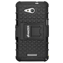 Load image into Gallery viewer, AMZER Shockproof Warrior Hybrid Case for Sony Xperia E4G - Black/Black