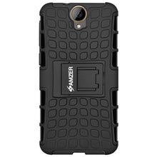 Load image into Gallery viewer, AMZER Shockproof Warrior Hybrid Case for HTC One E9 PLUS - Black/Black