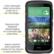 Load image into Gallery viewer, AMZER Shockproof Warrior Hybrid Case for HTC Desire 326G - Black/Black