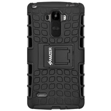 Load image into Gallery viewer, AMZER Hybrid Warrior Case for LG G Stylo LS770 - Black/Black