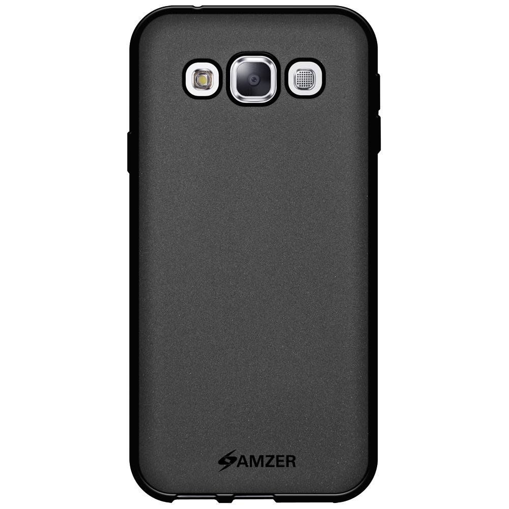 AMZER Pudding Soft TPU Skin Case for Samsung GALAXY E5 SM-E500 - Black