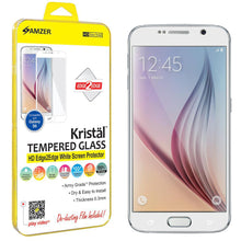 Load image into Gallery viewer, AMZER Tempered Glass HD Edge2Edge White Screen Protector Samsung Galaxy S6