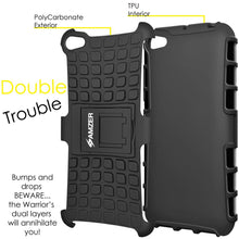 Load image into Gallery viewer, AMZER Shockproof Warrior Hybrid Case for Lenovo S60 - Black/Black