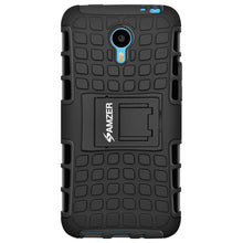 Load image into Gallery viewer, AMZER Shockproof Warrior Hybrid Case for Meizu m1 note - Black/Black