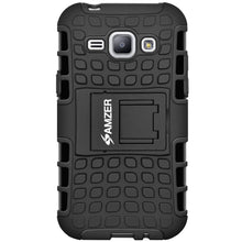 Load image into Gallery viewer, AMZER Shockproof Warrior Hybrid Case for Samsung GALAXY J1 - Black/Black