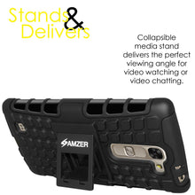Load image into Gallery viewer, AMZER Shockproof Warrior Hybrid Case for LG G4c H525N - Black/Black