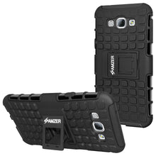 Load image into Gallery viewer, AMZER Shockproof Warrior Hybrid Case for Samsung Galaxy A8 - Black/Black