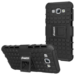 AMZER Shockproof Warrior Hybrid Case for Samsung Galaxy A8 - Black/Black