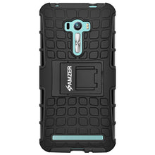 Load image into Gallery viewer, AMZER Warrior Hybrid Case for Asus Zenfone Selfie ZD551KL - Black/Black