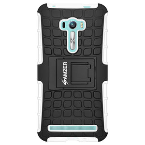 AMZER Warrior Hybrid Case for Asus Zenfone Selfie ZD551KL - Black/White