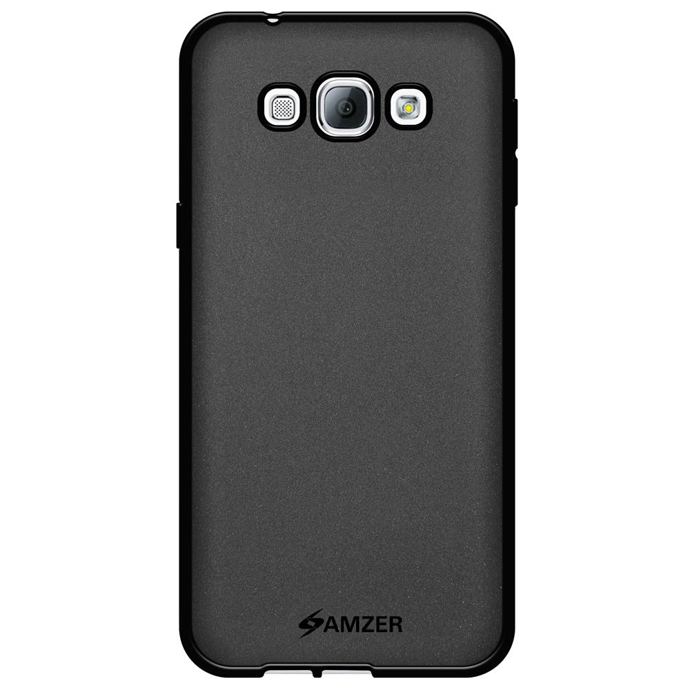 AMZER Pudding TPU Case - Black for Samsung Galaxy A8 SM-A800F
