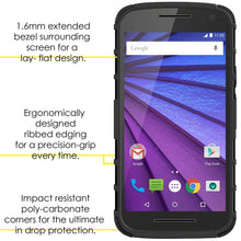 Load image into Gallery viewer, AMZER Warrior Hybrid Case for Motorola Moto G 3rd Gen XT1540 - Black/Black