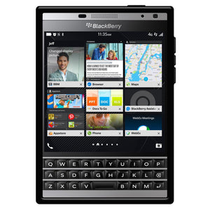 AMZER Pudding TPU Soft Case for BlackBerry Passport Silver Edition - Black