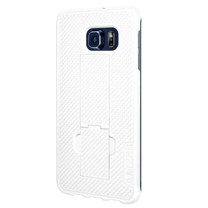AMZER Snap On Case with Kickstand - White for Samsung Galaxy S6 edge Plus SM-G928F