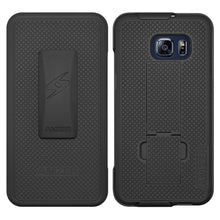 Load image into Gallery viewer, AMZER Shellster Hard Case Clip Holster for Samsung Galaxy S6 edge Plus - Black