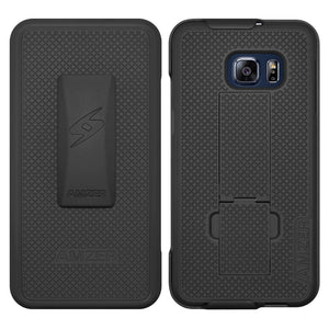AMZER Shellster Hard Case Clip Holster for Samsung Galaxy S6 edge Plus - Black