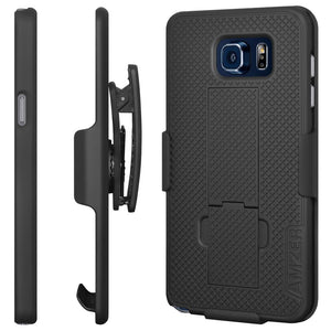 AMZER Shellster Hard Case  Belt Clip Holster for Samsung Galaxy Note 5 - Black