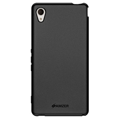 AMZER Pudding TPU Case - Black for Sony Xperia M4 Aqua
