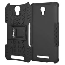 Load image into Gallery viewer, AMZER Shockproof Warrior Hybrid Case for Xiaomi Redmi Note 2 - Black/Black