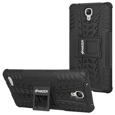 AMZER Shockproof Warrior Hybrid Case for Xiaomi Redmi Note - Black/Black