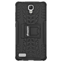 Load image into Gallery viewer, AMZER Shockproof Warrior Hybrid Case for Xiaomi Redmi Note - Black/Black