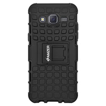 Load image into Gallery viewer, AMZER Hybrid Warrior Case for Samsung Galaxy J7 - Black/Black