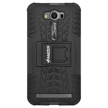 Load image into Gallery viewer, AMZER Warrior Hybrid Case for Asus Zenfone 2 Laser ZE500KL - Black/Black