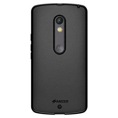 AMZER Pudding TPU Case - Black for Motorola Moto X Play