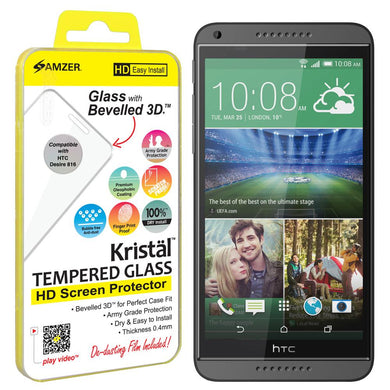 AMZER Kristal Tempered Glass HD Screen Protector for HTC Desire 816