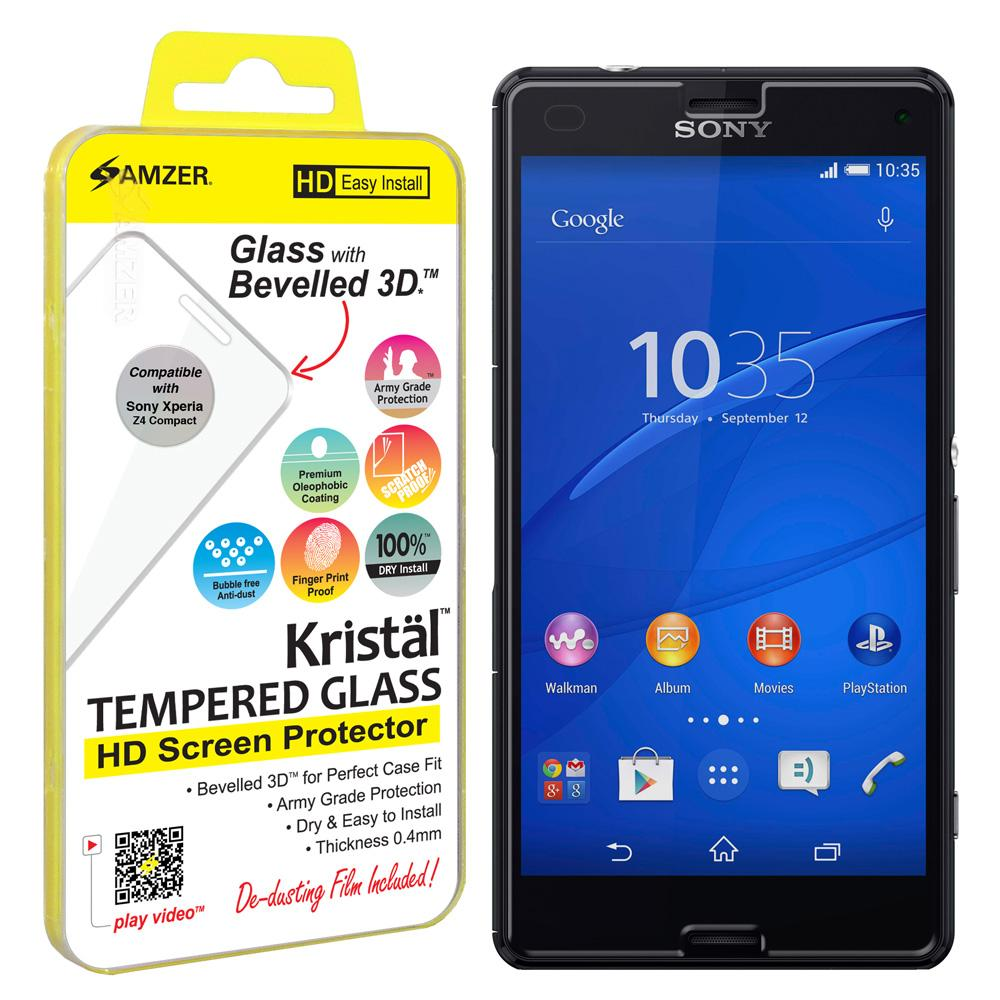 AMZER Kristal Tempered Glass HD Screen Protector for Sony Xperia Z4 Compact