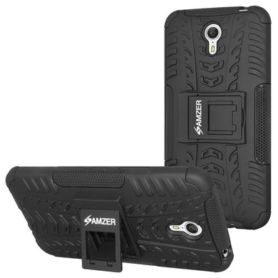 AMZER Hybrid Warrior Case for Lenovo ZUK Z1 - Black/Black