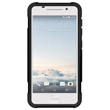 Load image into Gallery viewer, Amzer Dual Layer Hybrid KickStand Case - Black/ Black for HTC One A9