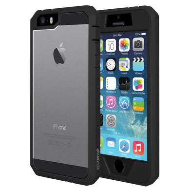 AMZER Full Body Shockproof Hard Cover Hybrid Case for iPhone 5