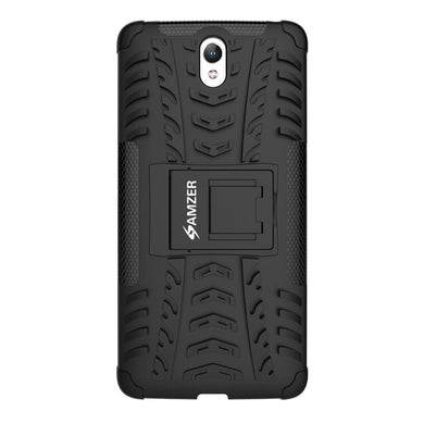 AMZER Shockproof Warrior Hybrid Case for Lenovo Vibe S1 - Black/Black