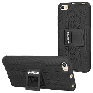 AMZER Shockproof Warrior Hybrid Case for Xiaomi Mi 5 - Black/Black