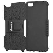 Load image into Gallery viewer, AMZER Shockproof Warrior Hybrid Case for Xiaomi Mi 5 - Black/Black