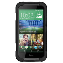 Load image into Gallery viewer, AMZER Dual Layer Hybrid KickStand Case - Black/Black For HTC Desire 526