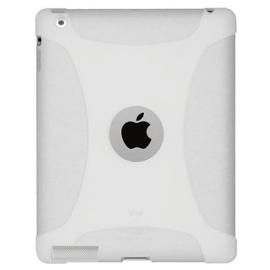 AMZER® Silicone Skin Jelly Case - Transparent White for iPad 2