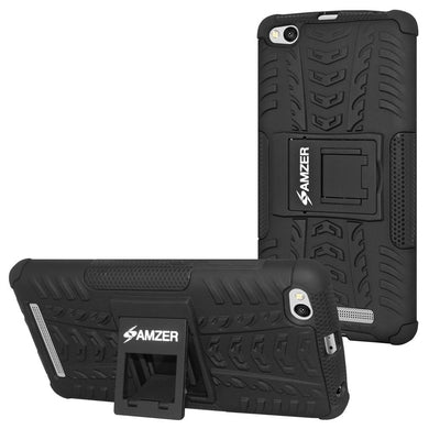AMZER Shockproof Warrior Hybrid Case for Xiaomi Redmi 3 - Black/Black